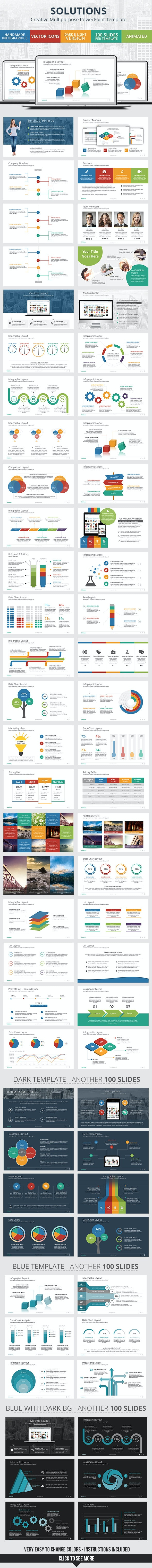 Solutions - PowerPoint Presentation Template - Business PowerPoint Templates