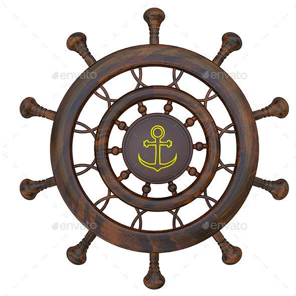 Steering Wheel of the Sea Ship - Objects 3D Renders