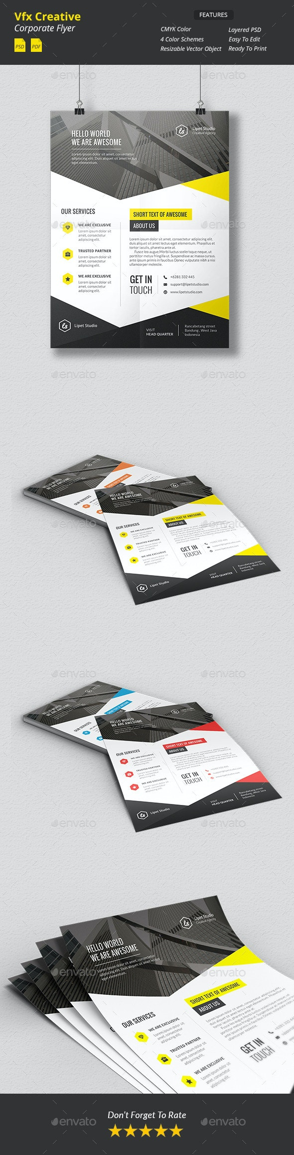 Vfx - Creative Corporate Flyer v1 - Corporate Flyers