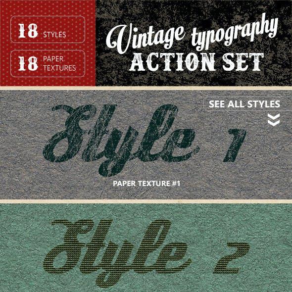 Vintage Typography Letterpress + Paper Textures