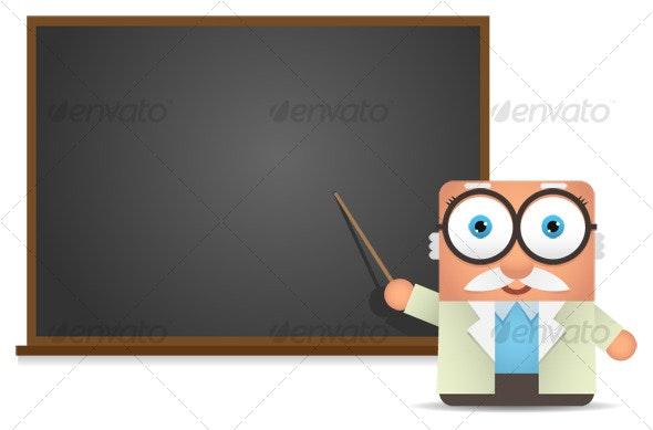 Square Professor Presentation - Characters Illustrations
