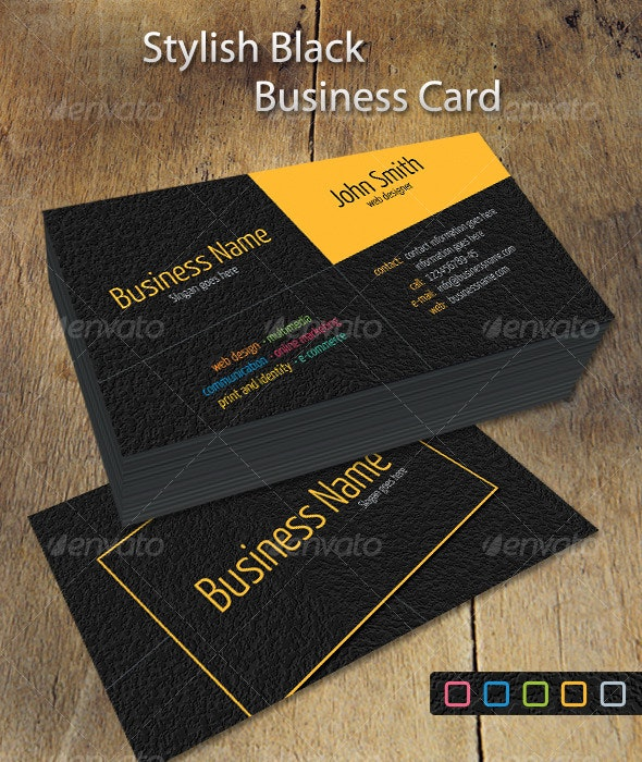 Stylish Black Business Card Vol.5 - Creative Business Cards