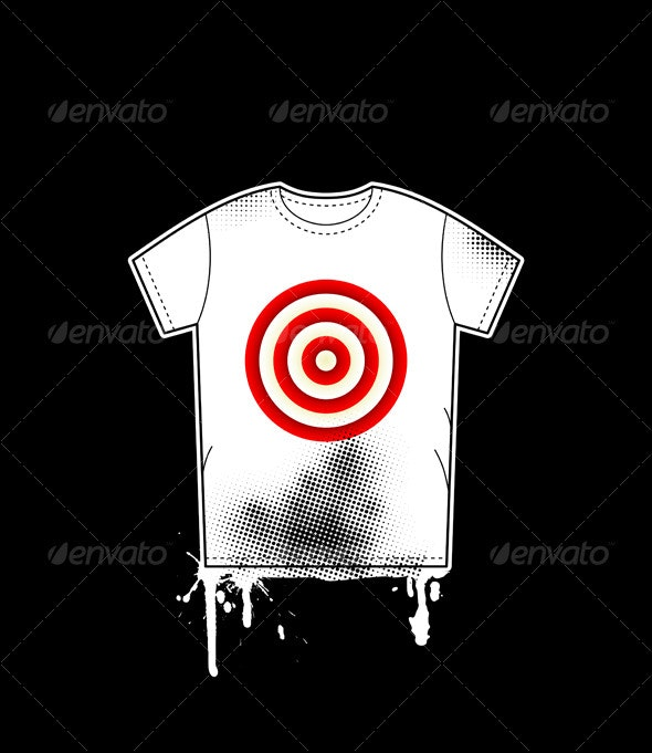 Shirt template with target - Concepts Business