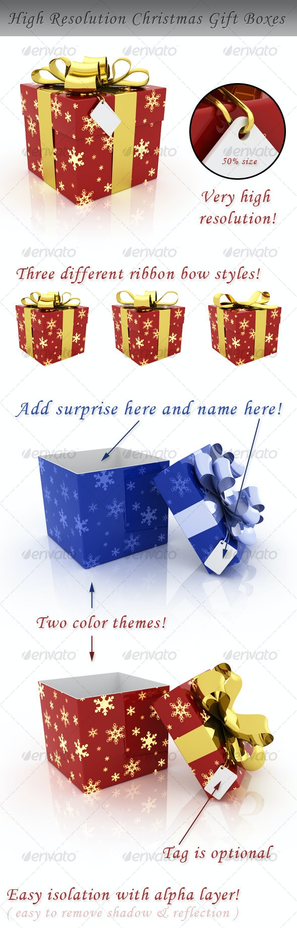 Christmas Gift Box - Objects 3D Renders