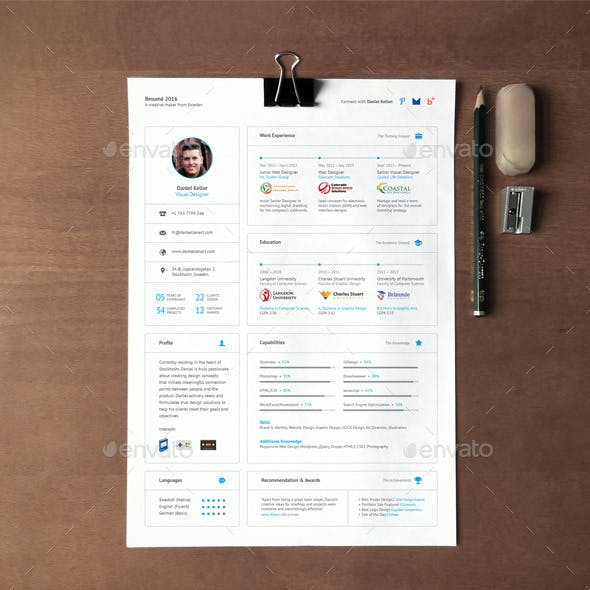 Card-Based UI Resume