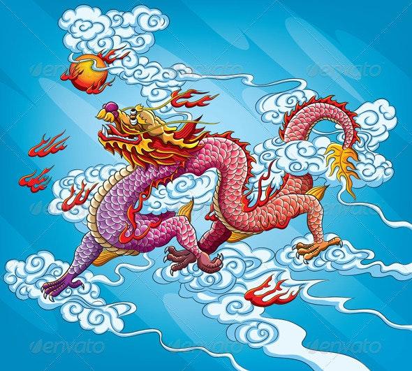 Chinese Dragon Painting - New Year Seasons/Holidays