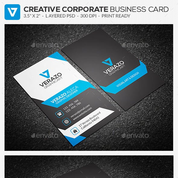 Creative & Modern Corporate Business Card 72