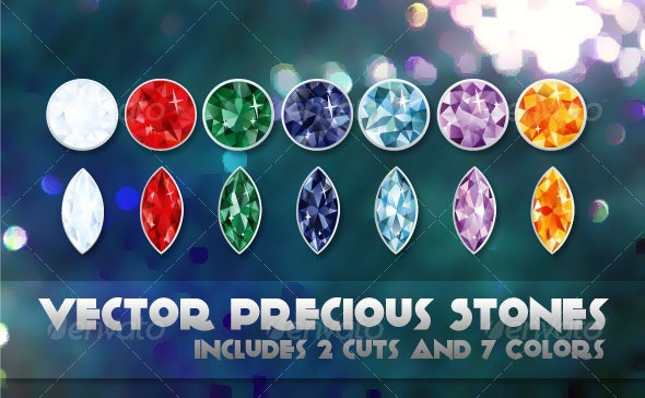 Vector Precious Stones - Objects Vectors