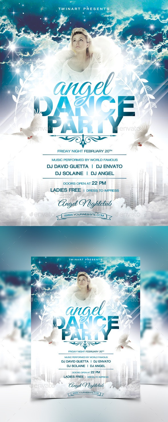 Angel Dance Party Flyer - Flyers Print Templates