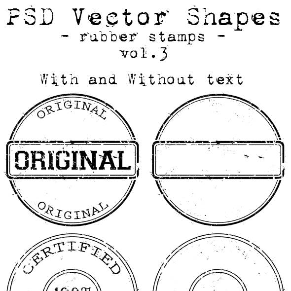 PSD Vector Shapes - Rubber Stamps - Vol 3.