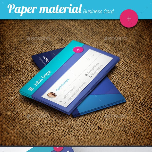 Paper Material Business Card