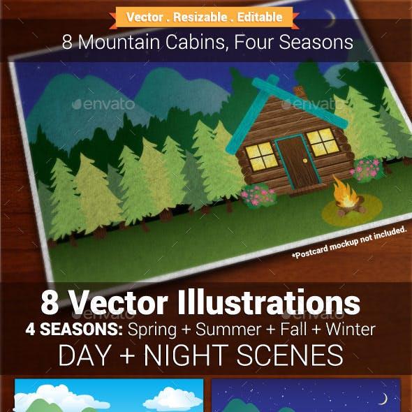 8 Log Cabin Backgrounds