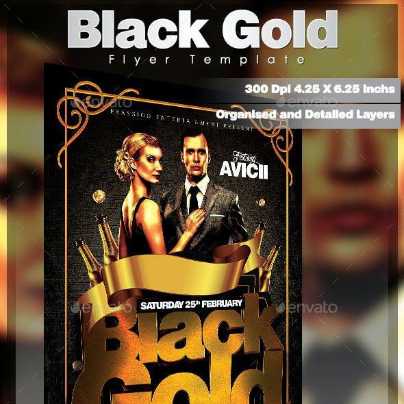 Black Gold Flyer Template