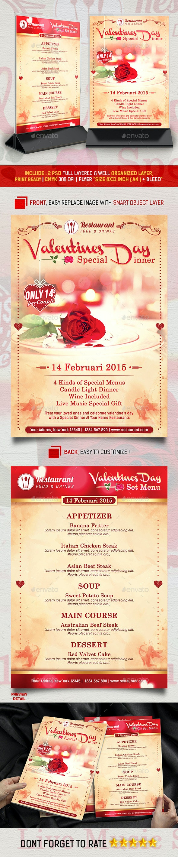 Valentines Menu Special Dinner Promotion - Restaurant Flyers