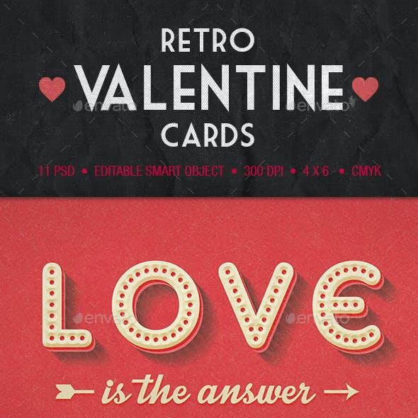 Retro Valentine Cards