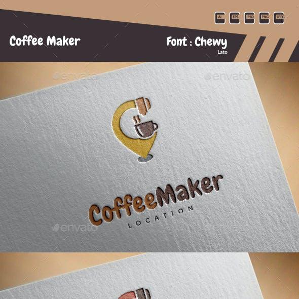 Coffee Maker Logo Template