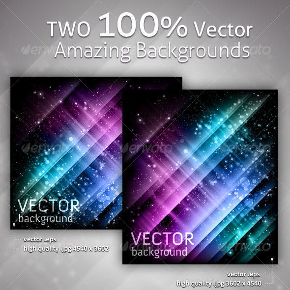Abstract backgrounds and laptop - vector