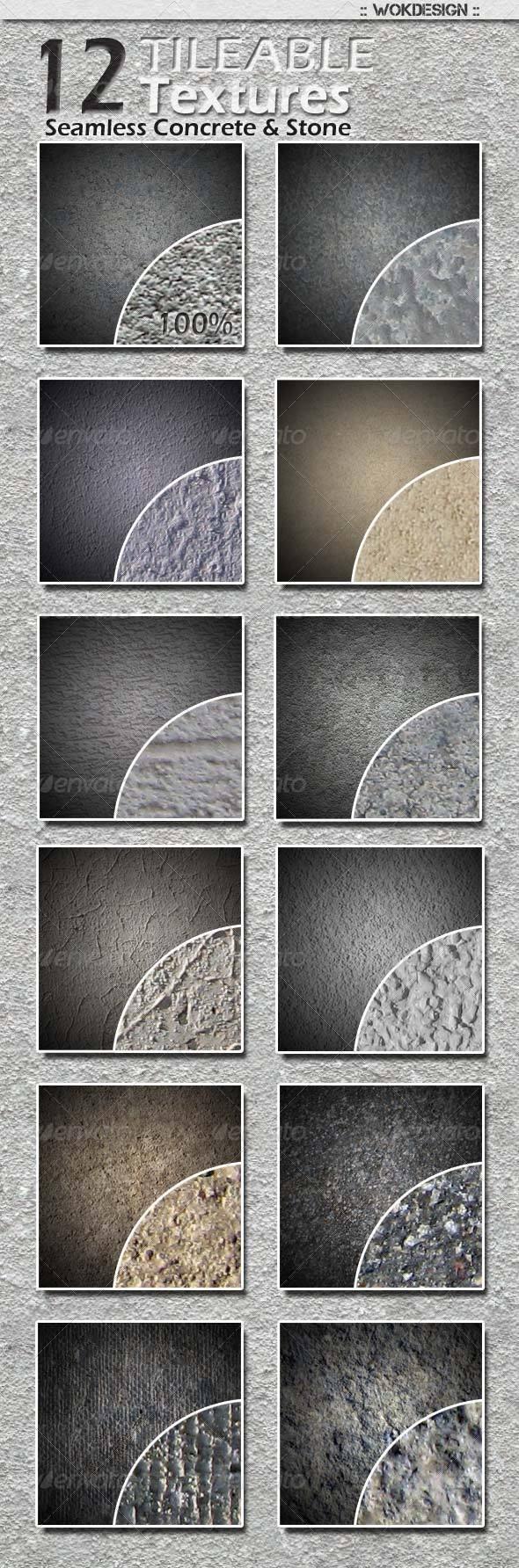 12 Seamless Tileable Concrete and Stone Textures - Stone Textures