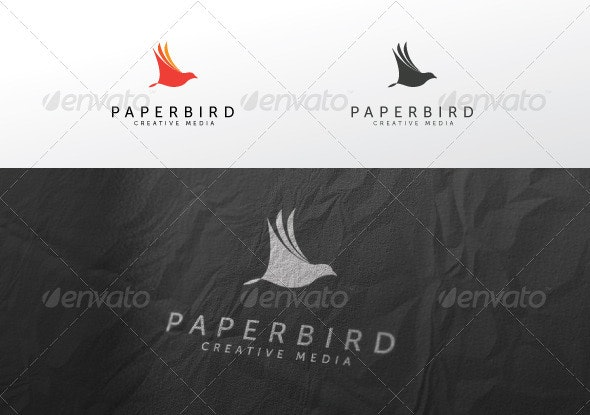 Paper Bird - Animals Logo Templates