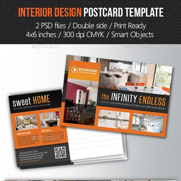 Interior Design Postcard Template V05
