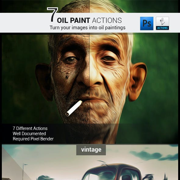 7 Oil Painting Actions
