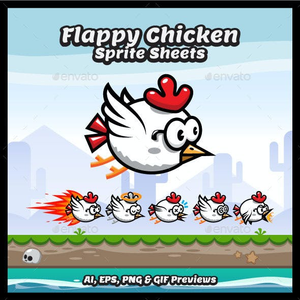 Game Sprite Sheets Flappy Chicken