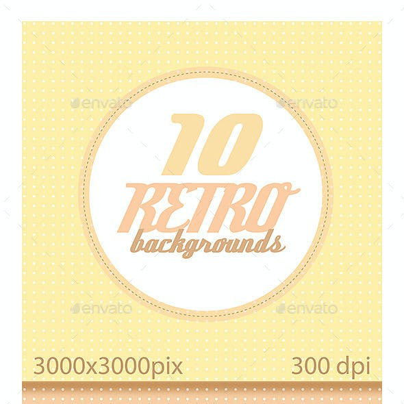 10 Backgrounds Retro