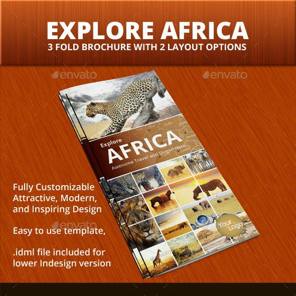 Explore Africa Trifold Brochure