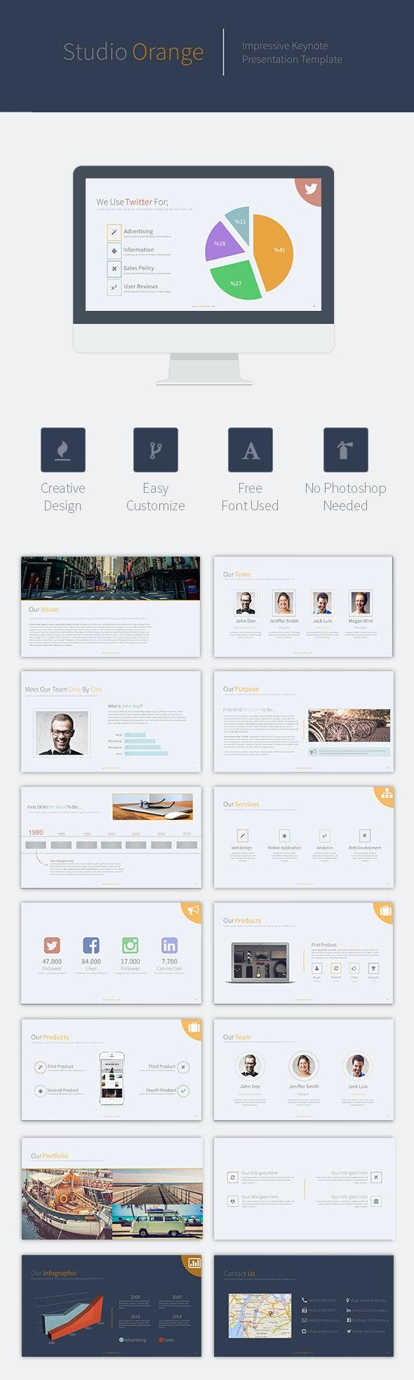 Orange Studio Keynote - Business Keynote Templates