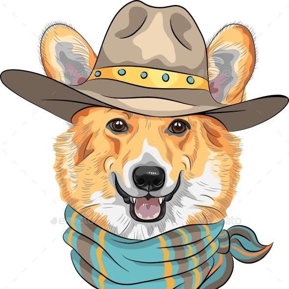 Hipster Dog Pembroke Welsh Corgi