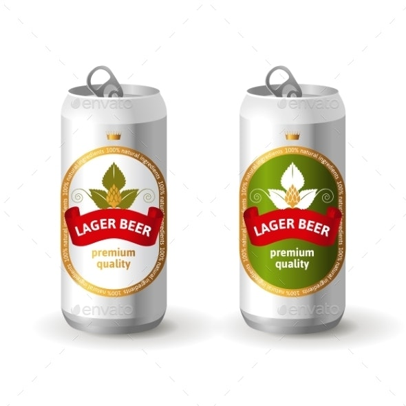 Aluminum Beer Cans - Food Objects
