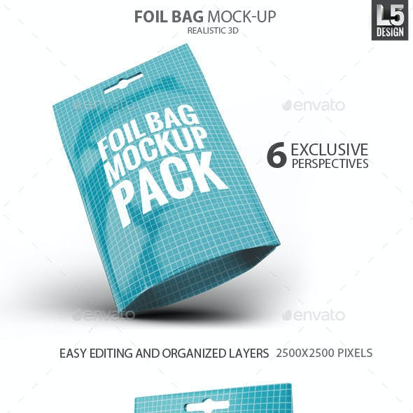 Foil Bag Pack Mock-up