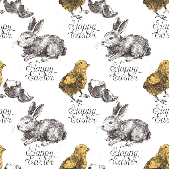 Easter Seamless Pattern - Patterns Decorative