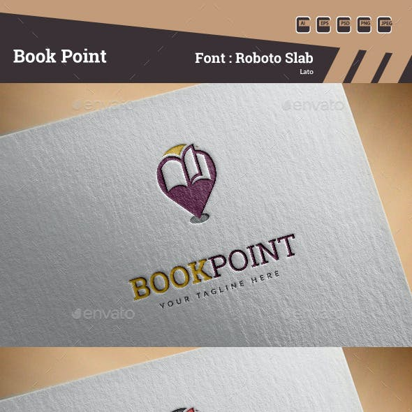 Book Point Logo Template