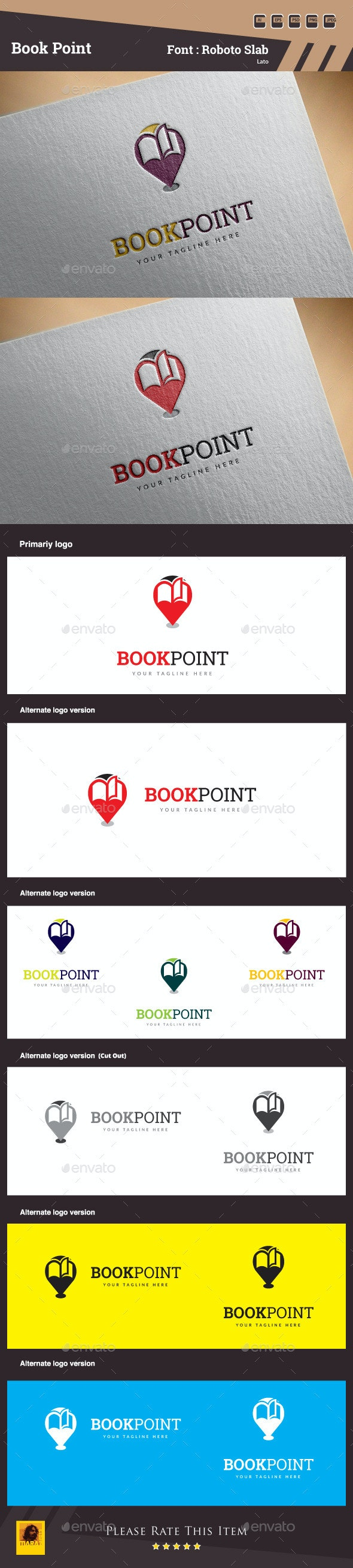 Book Point Logo Template - Objects Logo Templates