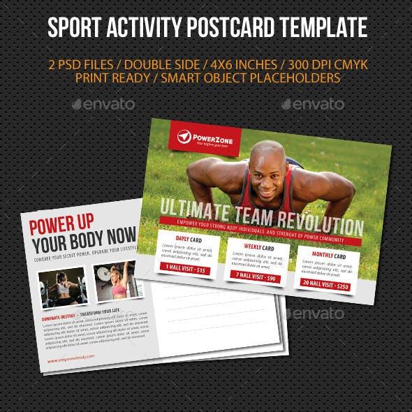 Sport Activity Postcard Template V05