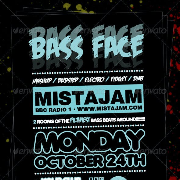 Bass Face Flyer Template
