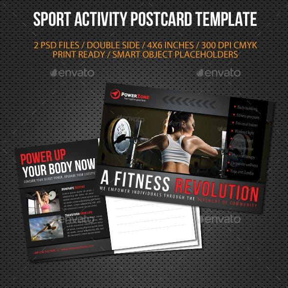 Sport Activity Postcard Template V06