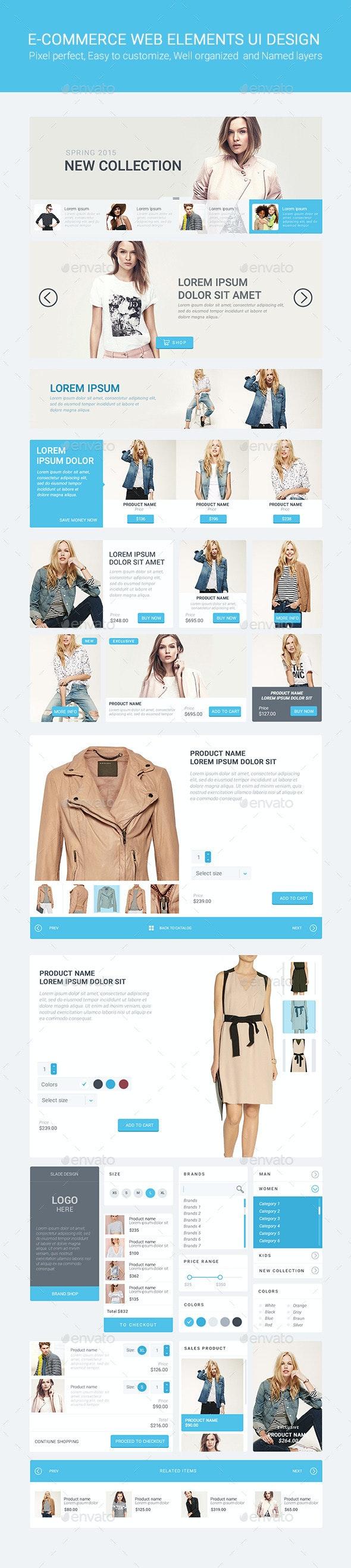 Slade E-commerce Web Elements UI Design - User Interfaces Web Elements