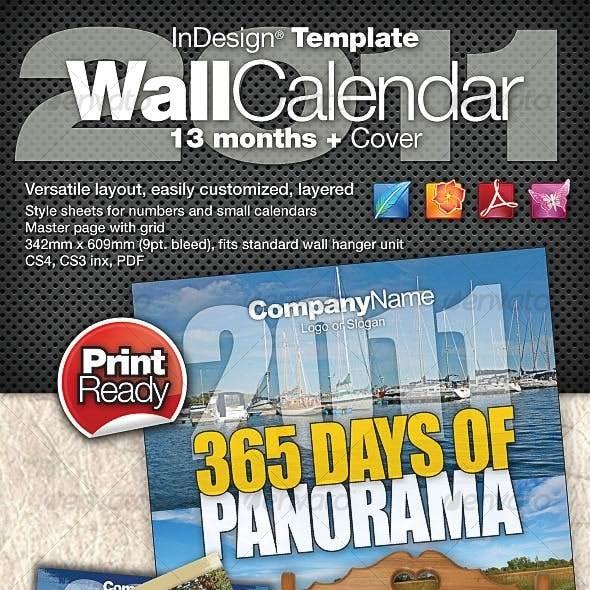 2011 Wall Calendar - 15 Months + Cover