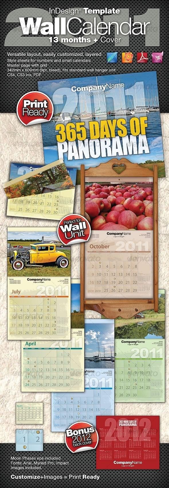2011 Wall Calendar - 15 Months + Cover   - Calendars Stationery