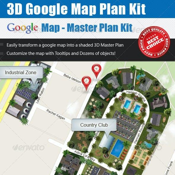3D Master Plan Kit - Google Map