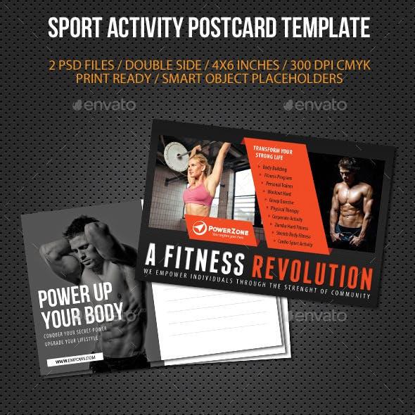 Sport Activity Postcard Template V07