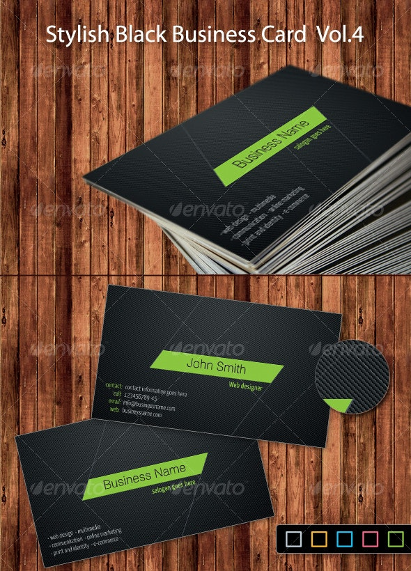 Stylish Black Business Card Vol.4 - Creative Business Cards