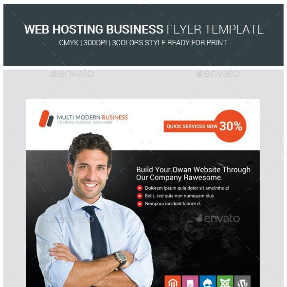 Web Hosting Business Flyer Templates