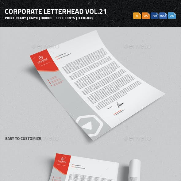 Corporate Letterhead vol.21 with MS Word DOC/DOCX
