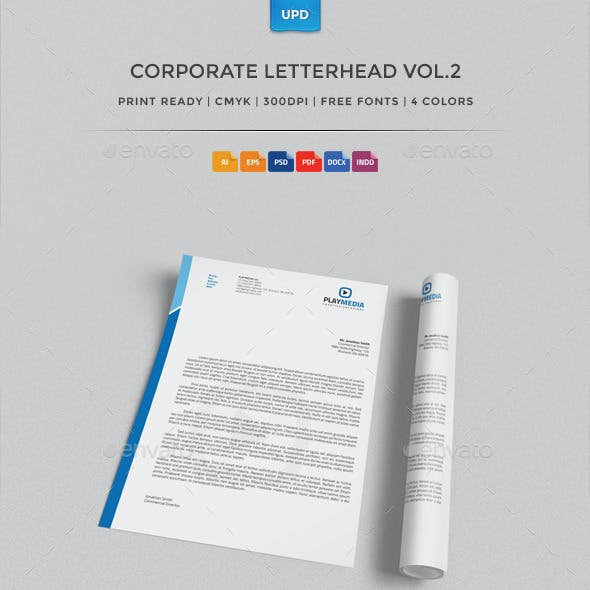 Corporate Letterhead Vol.2 with MS Word Doc