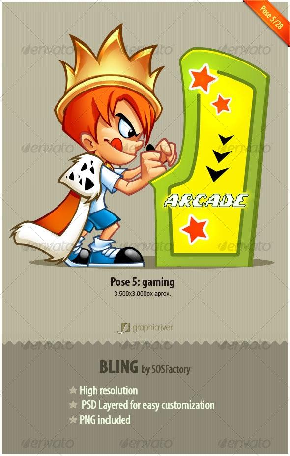 Bling Series 5/28: Gaming - Characters Illustrations