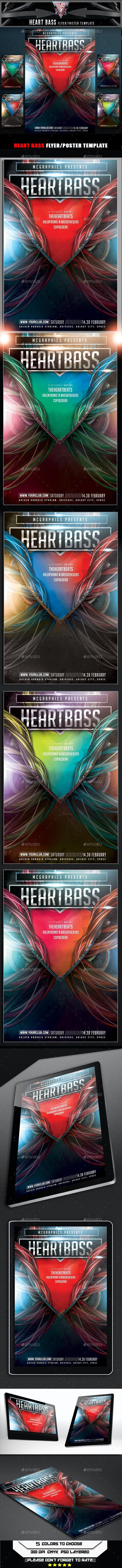 Heart Bass Flyer Template - Events Flyers