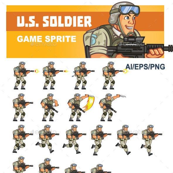 U.S. Soldier Game Sprite